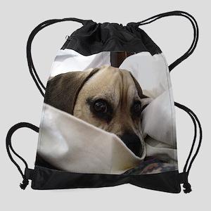 Gus in the Sheets Drawstring Bag
