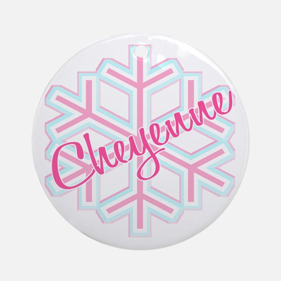 Cheyenne Snowflake Personalized Ornament (Round)