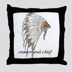 MASTER AND CHIEF Throw Pillow