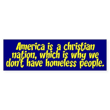 AMERICA... Bumper Sticker