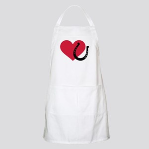 Horseshoe red heart Apron