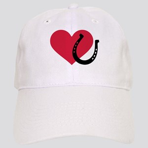 Horseshoe red heart Cap