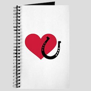 Horseshoe red heart Journal