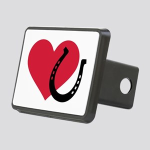 Horseshoe red heart Rectangular Hitch Cover