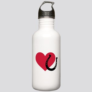 Horseshoe red heart Stainless Water Bottle 1.0L