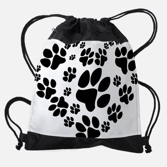 catlovepaw1 Drawstring Bag