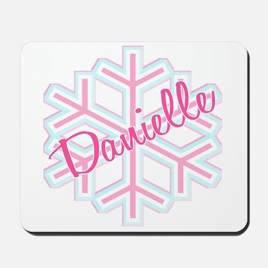 Danielle Snowflake Personalized Mousepad