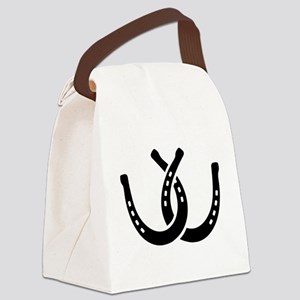Crossed horseshoes Canvas Lunch Bag