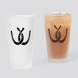 Crossed horseshoes Drinking Glass