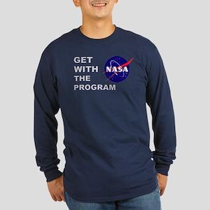 "NASA ""Program"" Long Sleeve Dark T-Shirt"