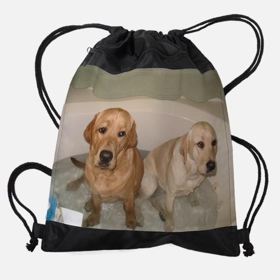 bathingbabiesNEW.bmp Drawstring Bag