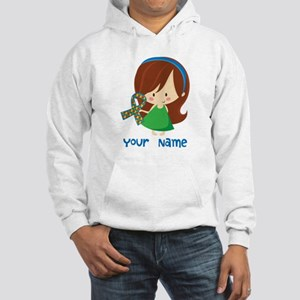 Personalized Autism Girl Hooded Sweatshirt