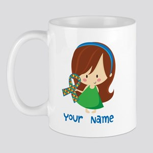 Personalized Autism Girl Mug