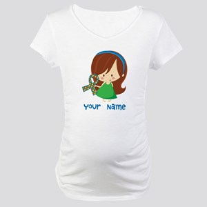 Personalized Autism Girl Maternity T-Shirt