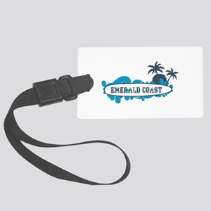 Emerald Coast - Surf Design. Large Luggage Tag