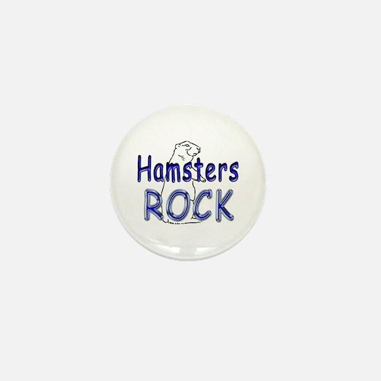 Hamsters Rock Mini Button