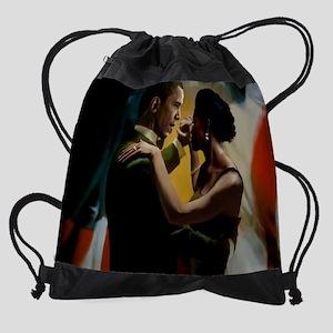 BarackandMichelleCPMousePad Drawstring Bag
