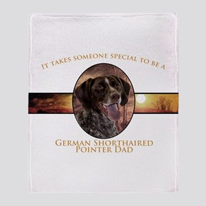 Pointer Dad Throw Blanket