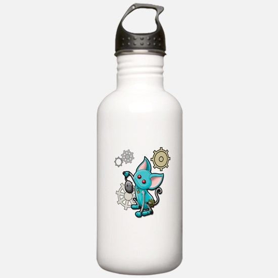 Cat and mouse Water Bottle