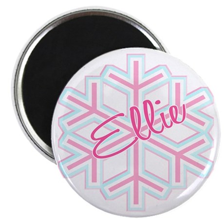 Ellie Snowflake Personalized Magnet