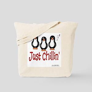 Penguins Chillin' Tote Bag