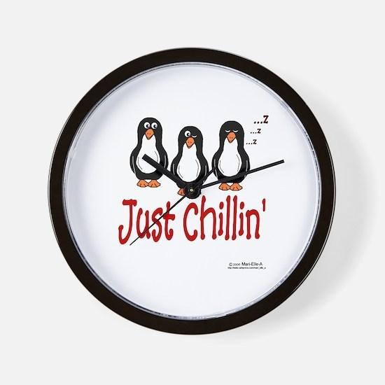 Penguins Chillin' Wall Clock