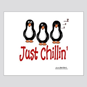 Penguins Chillin' Small Poster