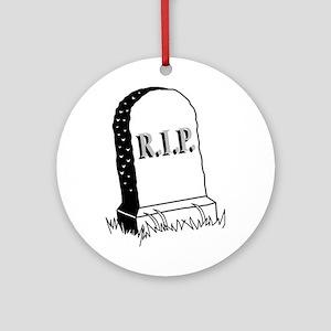 Rest in Peace ( R.I.P. ) Ornament (Round)