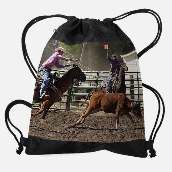 Oregon Rodeo Roping Drawstring Bag
