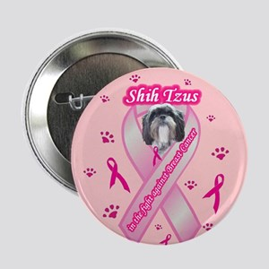 """Shih Tzus In The Fight 2.25"""" Button"""