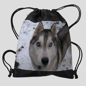 kibo close up Drawstring Bag