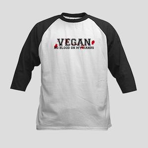 Vegan No Blood Kids Baseball Jersey