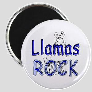 Llamas Rock Magnet