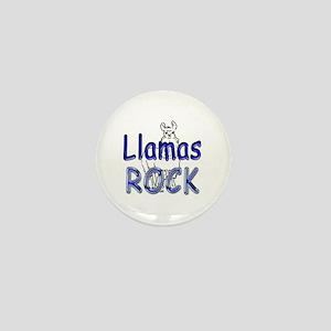 Llamas Rock Mini Button