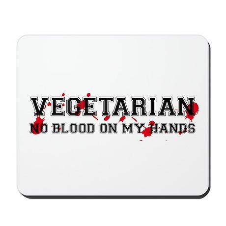 Vegetarian No Blood Mousepad