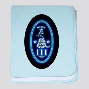 Molon Labe - Vertical Blue baby blanket