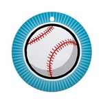 Baseball 2 Ornament (Round)