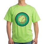 Baseball 2 Green T-Shirt