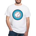 Baseball 2 White T-Shirt