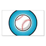 Baseball 2 Rectangle Sticker