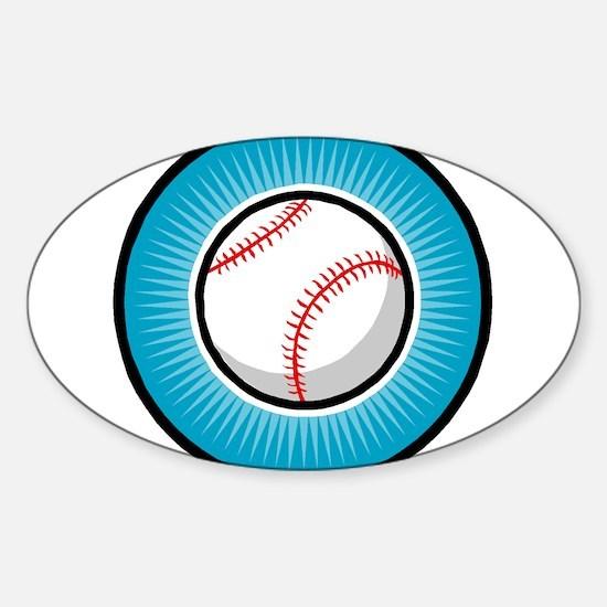 Baseball 2 Oval Decal