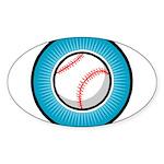 Baseball 2 Oval Sticker