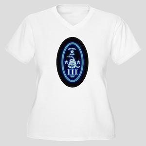 Molon Labe Vertical Glow II Plus Size T-Shirt