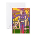 Egyptian Goddess Greeting Cards (Pk of 10)