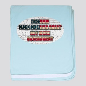 Freedom Not Government WFL Oval baby blanket
