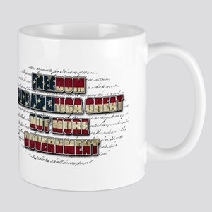 Freedom Not Government WFL Oval Mug