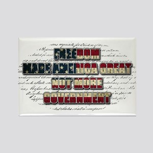 Freedom Not Government WFL Oval Rectangle Magnet