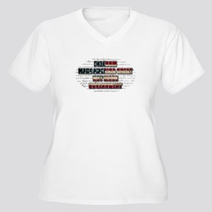 Freedom Not Government WFL Oval Plus Size T-Shirt