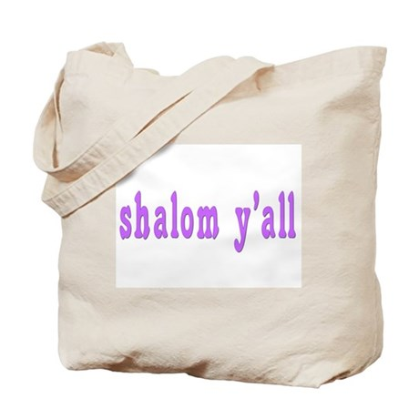 Shalom Y'all Greeting Tote Bag