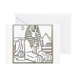 Egyptian Sphinx Greeting Cards (Pk of 10)